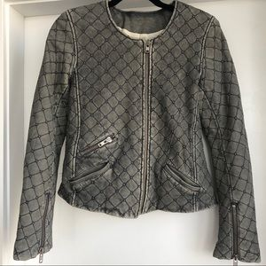 Iro Studded Quilted Leather Jacket